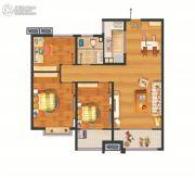万科・幸福里3室2厅1卫94平方米户型图