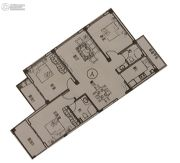 锦泰公寓3室2厅2卫117平方米户型图