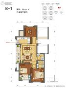 绿城莲园3室2厅2卫112平方米户型图