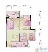 中亿阳明山水2室1厅1卫70平方米户型图