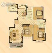 大郑东悦湖会3室2厅2卫138平方米户型图