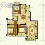 恒大山水城3室2厅2卫125平方米户型图