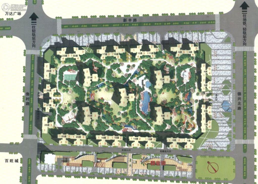> 恒福新里程花园规划图