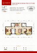 瀚城国际二期3室1厅2卫106平方米户型图