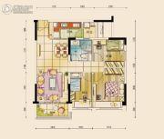 碧桂园公园壹号3室2厅1卫89平方米户型图