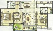 绿都万和城3室2厅2卫137平方米户型图