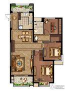 绿地峰云汇4室2厅1卫118平方米户型图