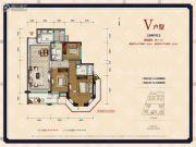 中德英伦联邦3室2厅2卫111平方米户型图
