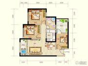 蓝光天娇城3室2厅1卫64平方米户型图