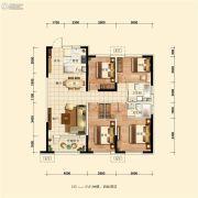 五矿・沈河金城4室2厅2卫125平方米户型图