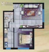 水语青城1室1厅1卫61平方米户型图