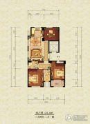 漫城公寓3室2厅2卫121平方米户型图
