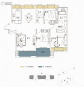 复地东湖国际3室2厅2卫132平方米户型图