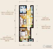 HOLI公馆1室1厅1卫56平方米户型图