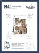 骋望�B玺3室2厅2卫79--82平方米户型图