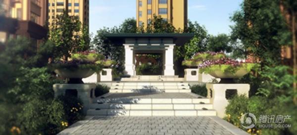 长禹星港湾园林景观图1