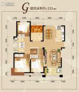 滨湖・阳光里3室2厅1卫125平方米户型图