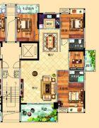 鸿泰华府4室2厅2卫149平方米户型图