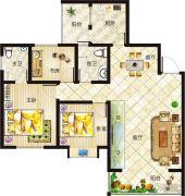 垠地中山城2室2厅2卫140--145平方米户型图