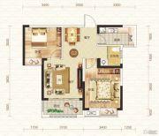 钓鱼台二期2室2厅1卫77平方米户型图