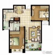 白塘壹号2室2厅1卫105--112平方米户型图