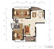 江南URD3室2厅2卫115平方米户型图