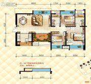 恒基雍翠名门3室2厅2卫0平方米户型图