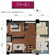 华远九都汇2室2厅1卫118平方米户型图