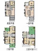 福宇凤凰华庭7室3厅5卫386平方米户型图