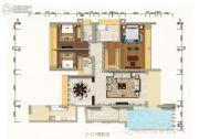 万菱・情侣湾一号4室3厅4卫242平方米户型图