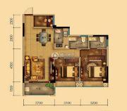 汇乔金色名都3室2厅2卫88平方米户型图