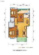 百江御城・龙脉3室2厅2卫118平方米户型图