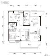 湘港3室2厅1卫118平方米户型图