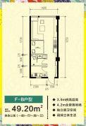 东风合运花园1室1厅1卫49平方米户型图