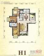 元森北新时代3室2厅2卫148平方米户型图
