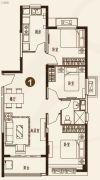 恒大城3室2厅1卫109平方米户型图