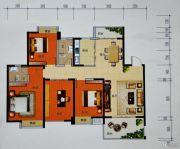 曼哈顿商业广场3室2厅2卫120平方米户型图