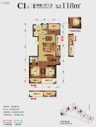 光大・玲珑郡4室2厅2卫118平方米户型图
