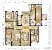 南宁华润幸福里5室2厅3卫255平方米户型图