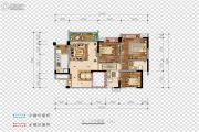 希望・玫瑰园3室2厅2卫100平方米户型图