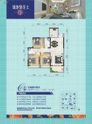 锦地繁花3室2厅2卫97--98平方米户型图
