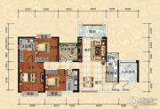 天湖御林湾3室2厅2卫145平方米户型图