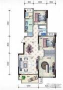 温泉纯水岸2室2厅1卫96平方米户型图
