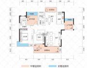 云鼎・天阙2室2厅2卫105--127平方米户型图