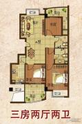 东方新卡纳3室2厅2卫0平方米户型图