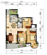 晟大海湾城3室2厅2卫0平方米户型图