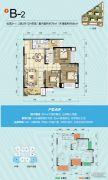 旭阳台北城2室2厅1卫86平方米户型图