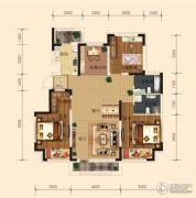 东安瑞凯国际3室2厅2卫112平方米户型图
