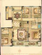 华鸿・瑞安府4室2厅3卫166平方米户型图