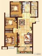 日百・市北依河园3室2厅1卫110平方米户型图